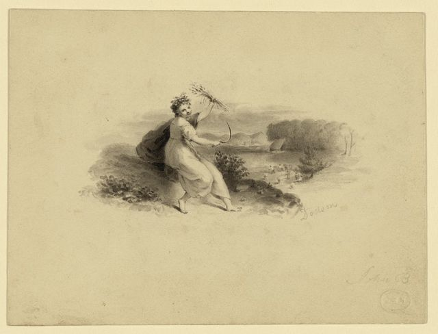 [Study for bank-note vignette: Ceres or agriculture]