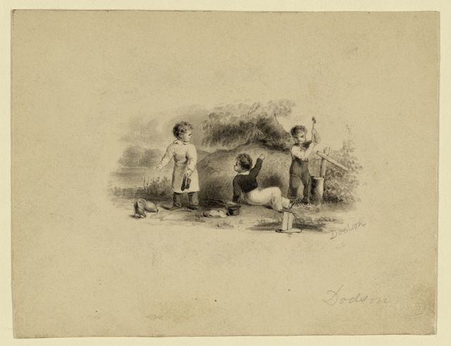 [Study for bank-note vignette: three youths]