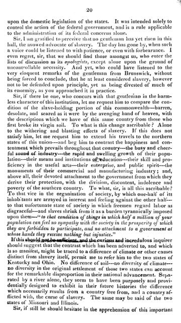 The speech of Charles Jas. Faulkner, (of Berkeley) in the House of delegates of Virginia, on the policy of the state with respect to her slave population. Delivered January 20, 1832.