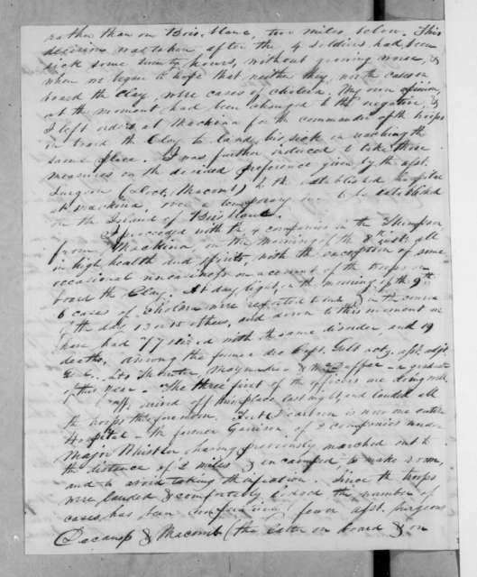 Winfield Scott to Lewis Cass, July 11, 1832