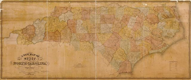 A new map of the state of North Carolina /