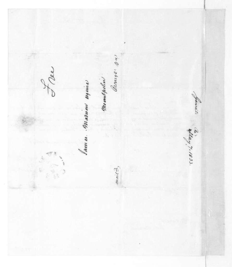 Alexander Garrett to James Madison, May 7, 1833.