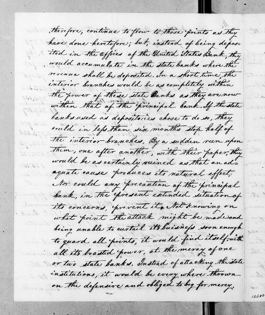 Amos Kendall to Louis McLane, March 16, 1833
