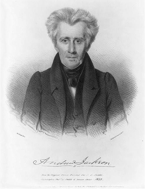 Andrew Jackson from the original picture painted for C.G. Childs / Hubard del. ; Childs & Inman lithrs.