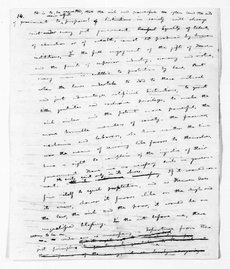 Andrew Jackson, July 10, 1833