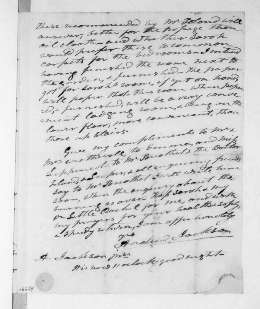 Andrew Jackson to Andrew Jackson, Jr., April 2, 1833