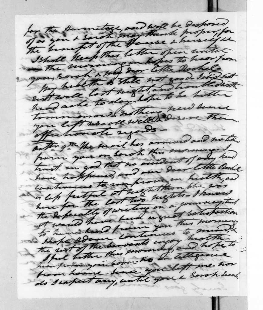 Andrew Jackson to Andrew Jackson, Jr., October 8, 1833