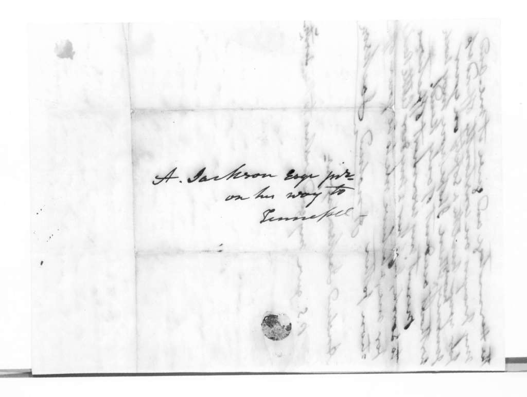 Andrew Jackson to Andrew Jackson, Jr., October 8, 1833