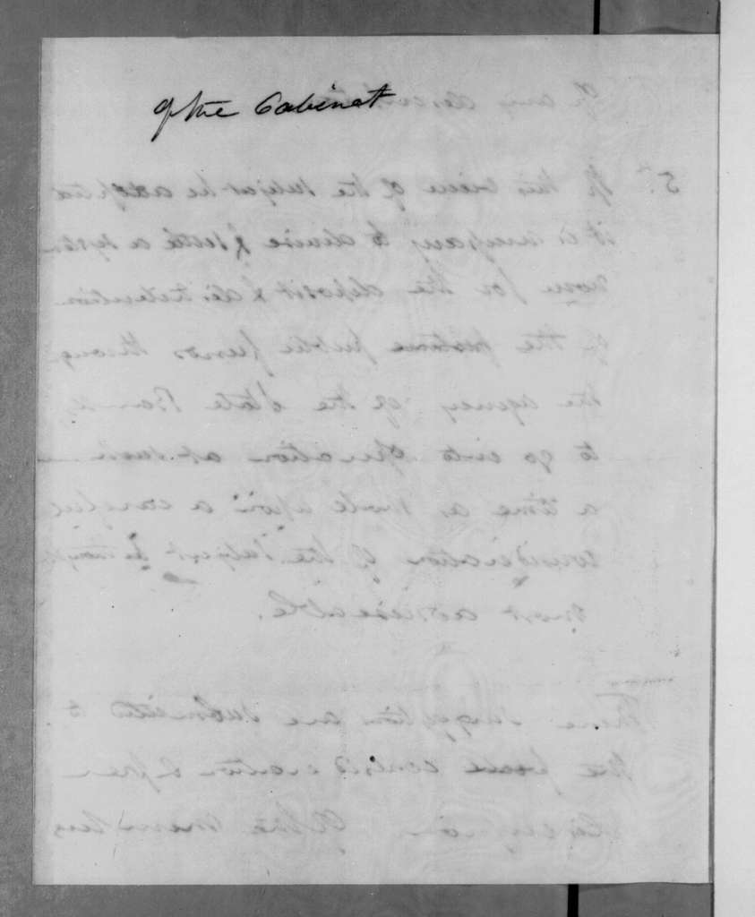 Andrew Jackson to Cabinet members, March 19, 1833