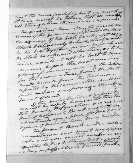 Andrew Jackson to Hugh Lawson White, March 24, 1833