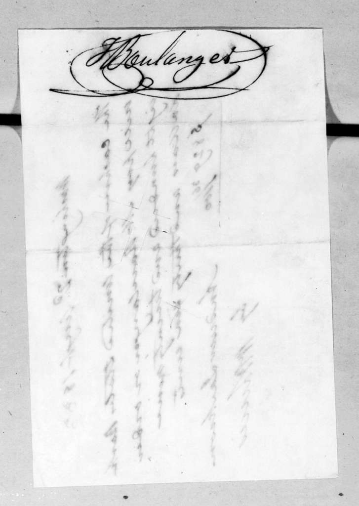 Andrew Jackson to Jospeh Boulanger, August 2, 1833