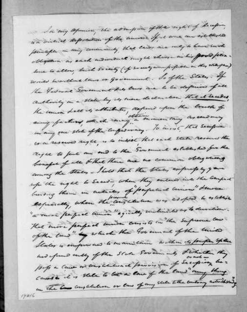 Andrew Jackson to Nathaniel Macon, September 2, 1833