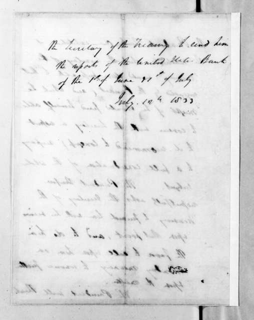 Andrew Jackson to William John Duane, July 12, 1833
