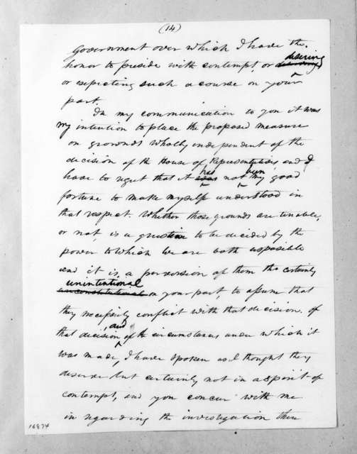 Andrew Jackson to William John Duane, July 17, 1833