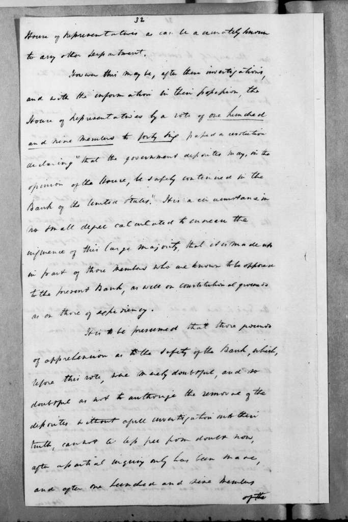 Andrew Jackson to William John Duane, June 26, 1833