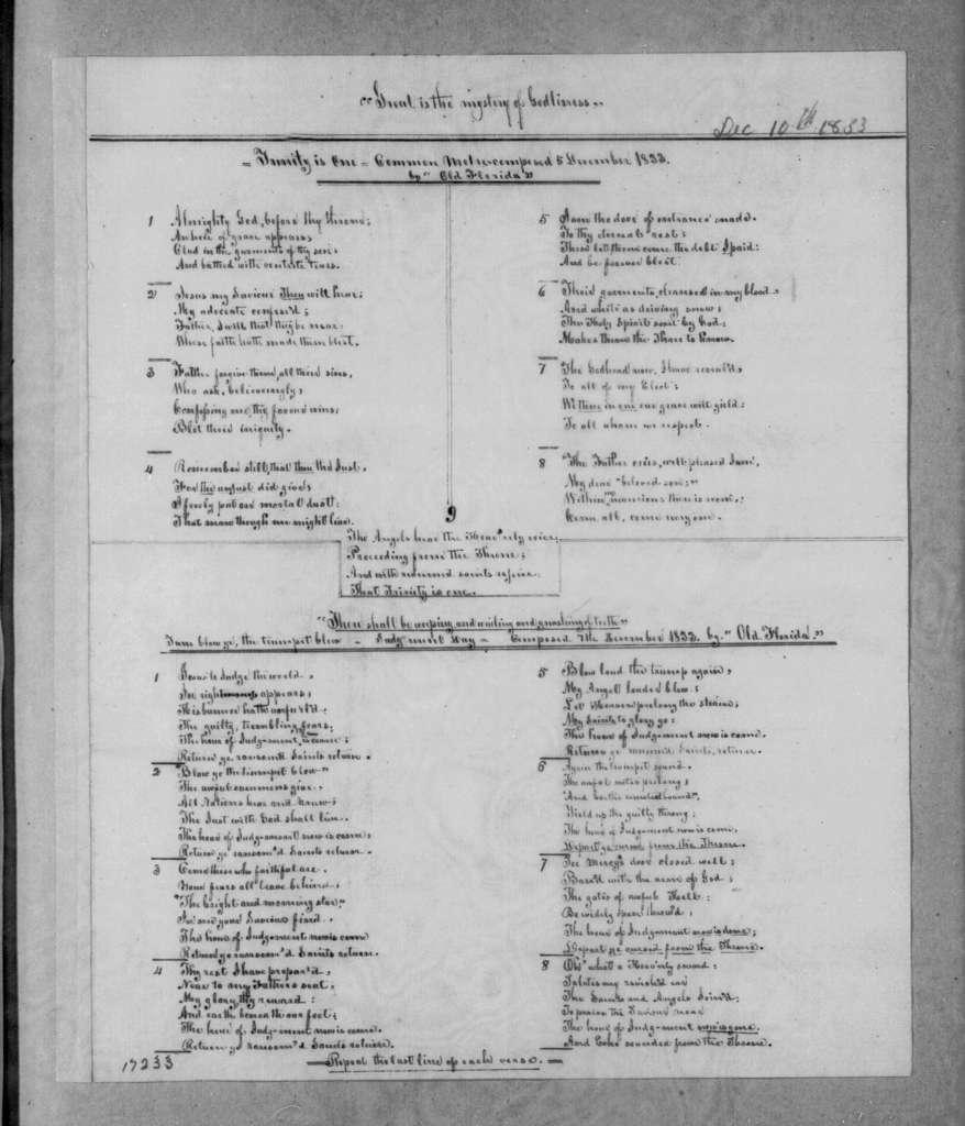 Anonymous to Andrew Jackson, December 10, 1833