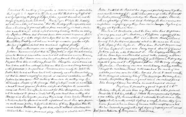 Benjamin Waterhouse to James Madison, May 30, 1833.