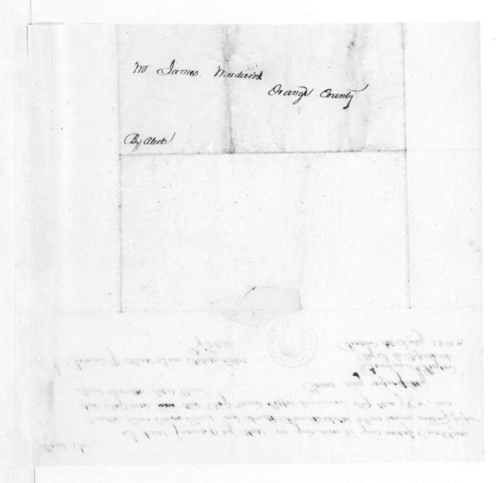 Bernard Peyton to James Madison, July 30, 1833.