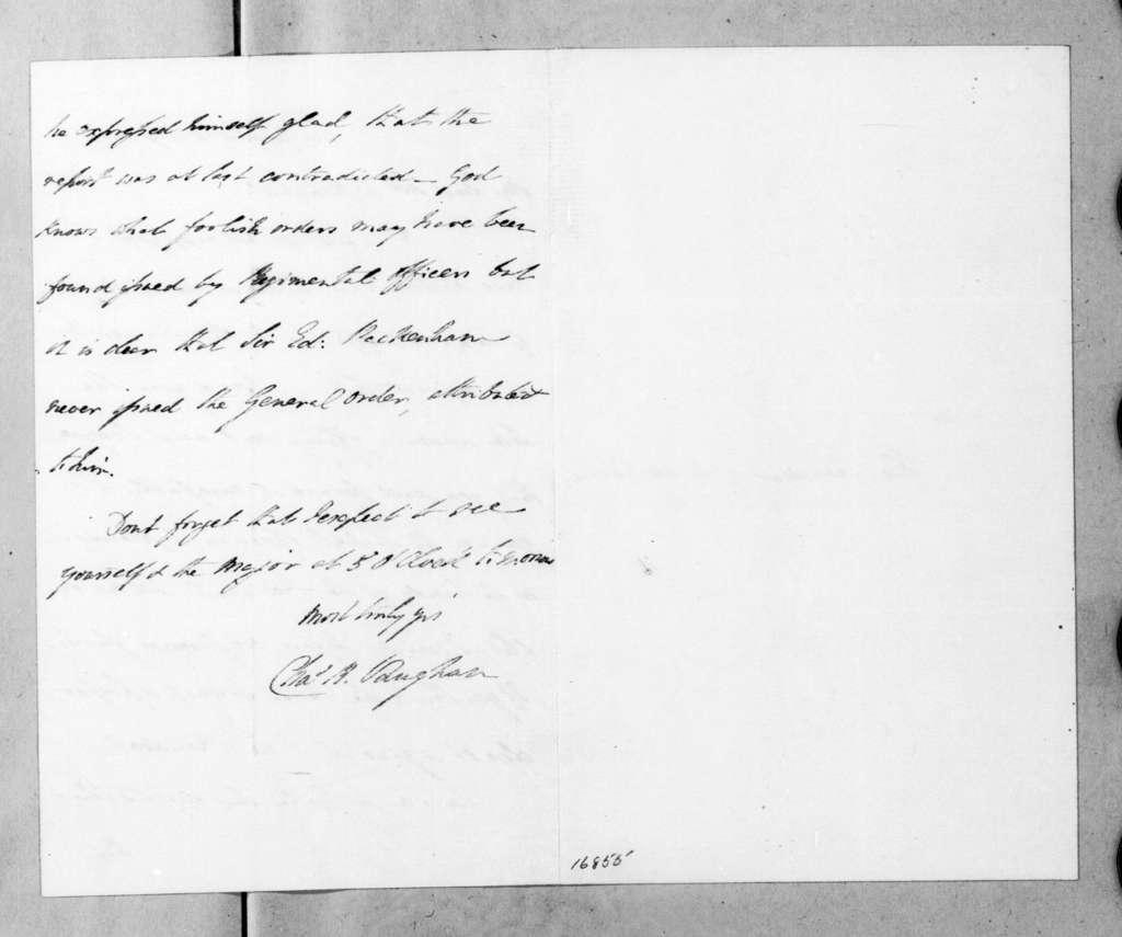 Charles B. Vaughan to Martin Van Buren, July 14, 1833