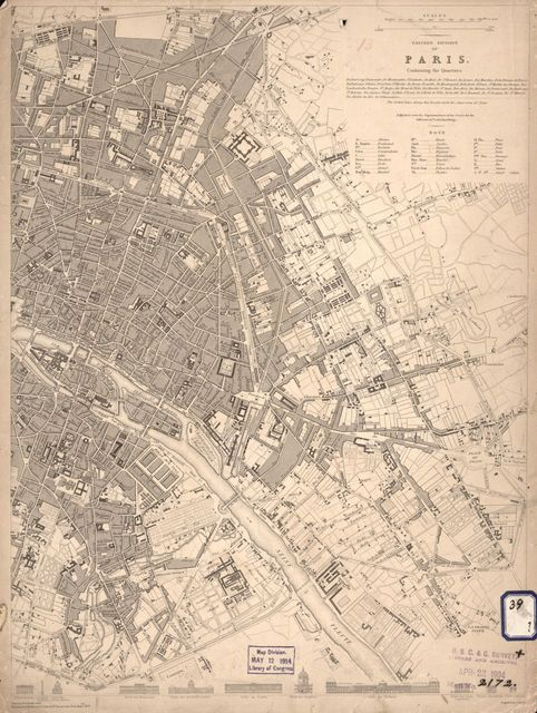 Eastern division of Paris : containing the Quartiers /