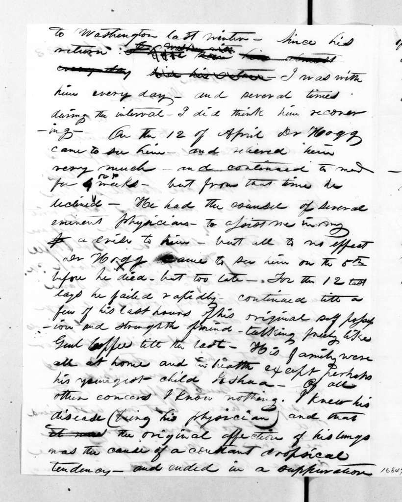 G. J. Cowles to Andrew Jackson, July 8, 1833