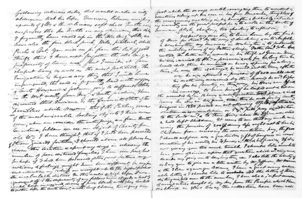 George Spotswood to James Madison, November 11, 1833.