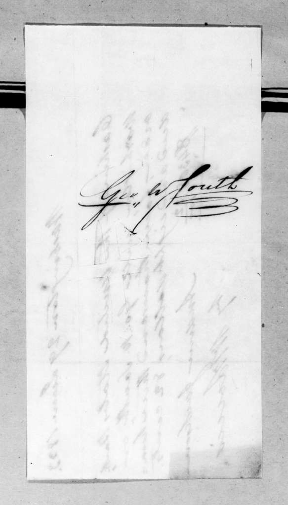 George W. South to Andrew Jackson, June 29, 1833