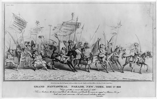 Grand fantastical parade, New-York, Dec 2d. 1833