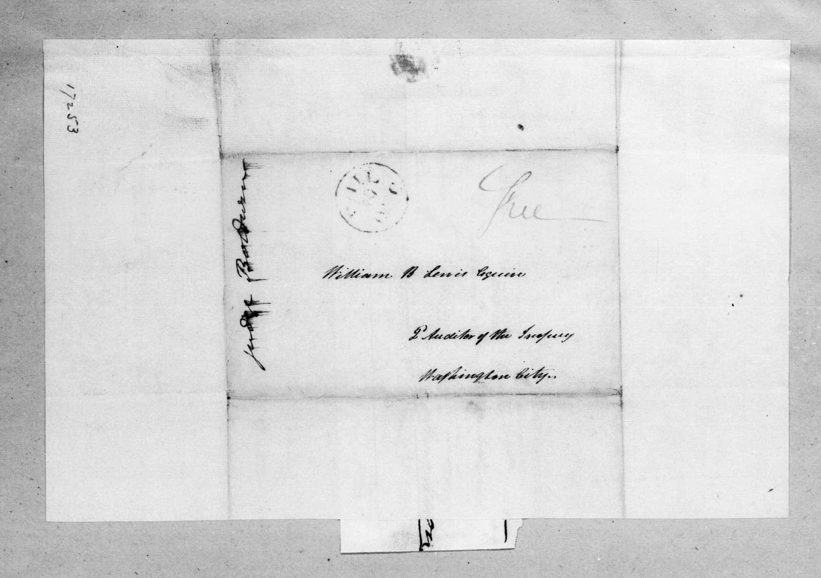 Henry Baldwin to William Berkeley Lewis, December 18, 1833