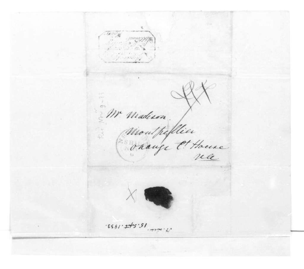Henry Lee to James Madison, September 15, 1833.