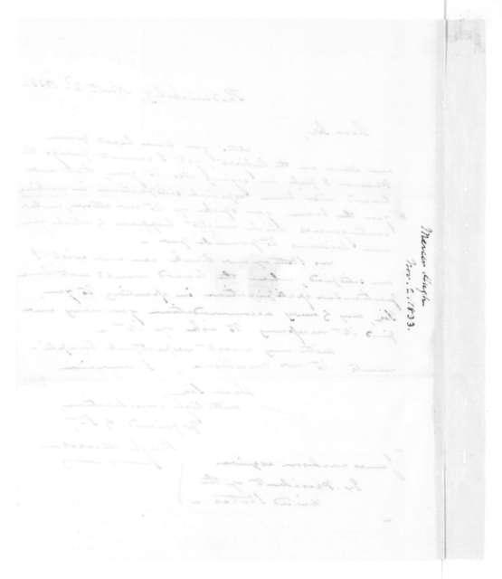 Hugh Mercer to James Madison, November 2, 1833.
