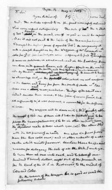 James Madison to Bernard Peyton, May 11, 1833.