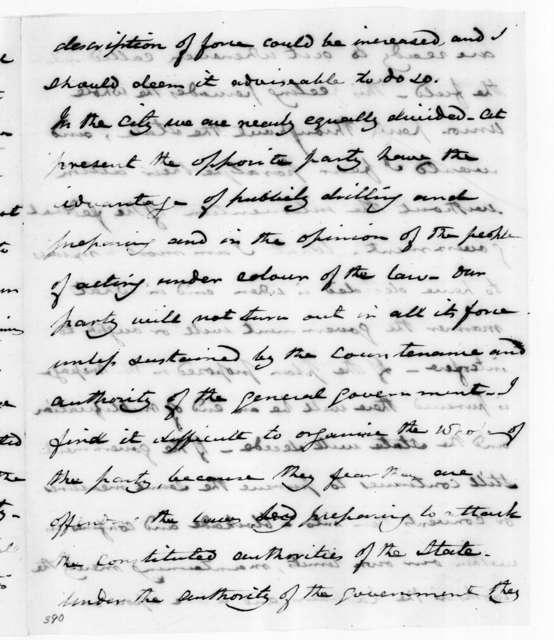 Joel Roberts Poinsett to Andrew Jackson, January 27, 1833