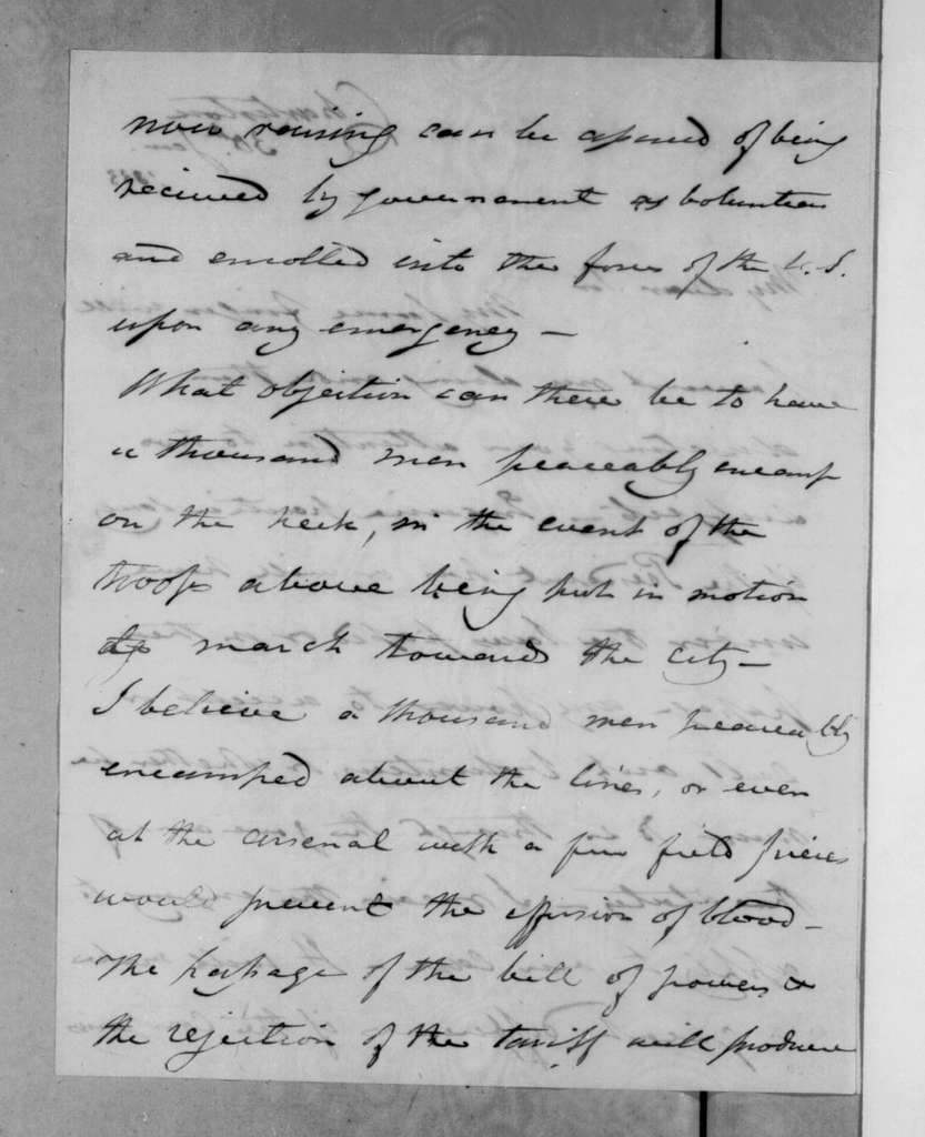 Joel Roberts Poinsett to James H. Smith, January 30, 1833