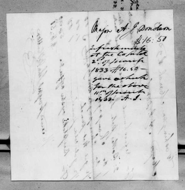 John B. Hutton to Andrew Jackson Donelson, March 2, 1833