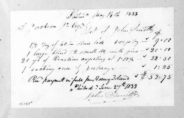 John Smith to Andrew Jackson, Jr., June 27, 1833