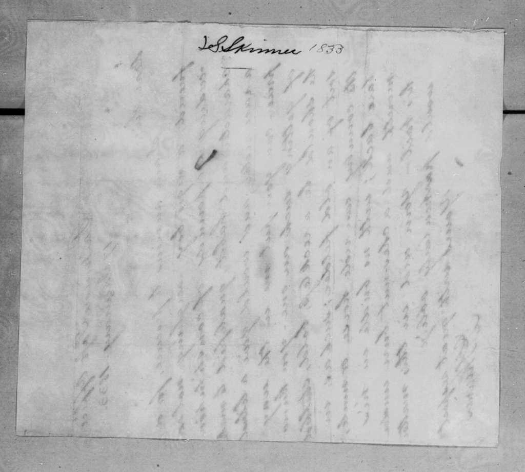 John Stuart Skinner to Andrew Jackson, January 17, 1833