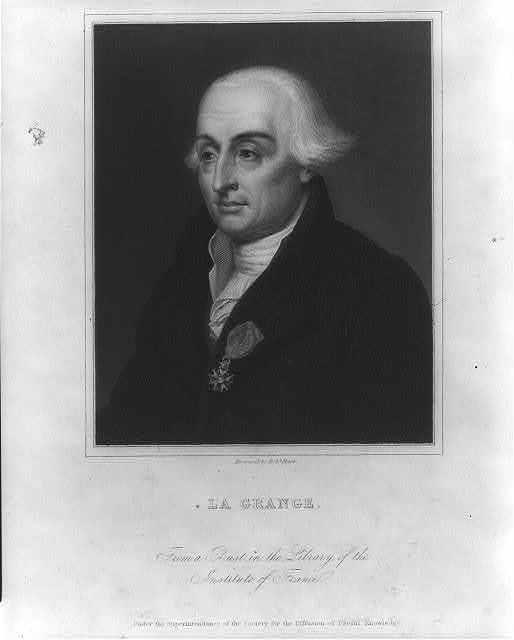 [Joseph Louis Lagrange, 1736-1813, head-and-shoulders portrait]