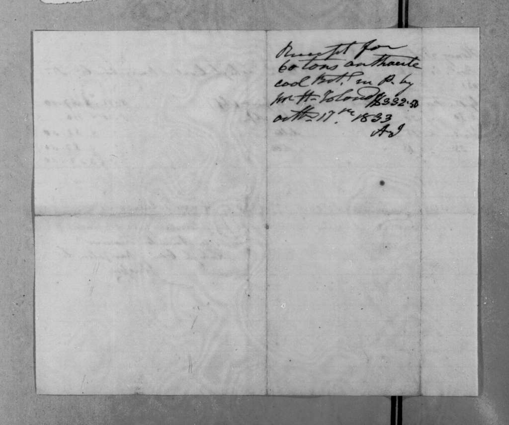 Lehigh Coal & Navigation Co. to Andrew Jackson, October 17, 1833