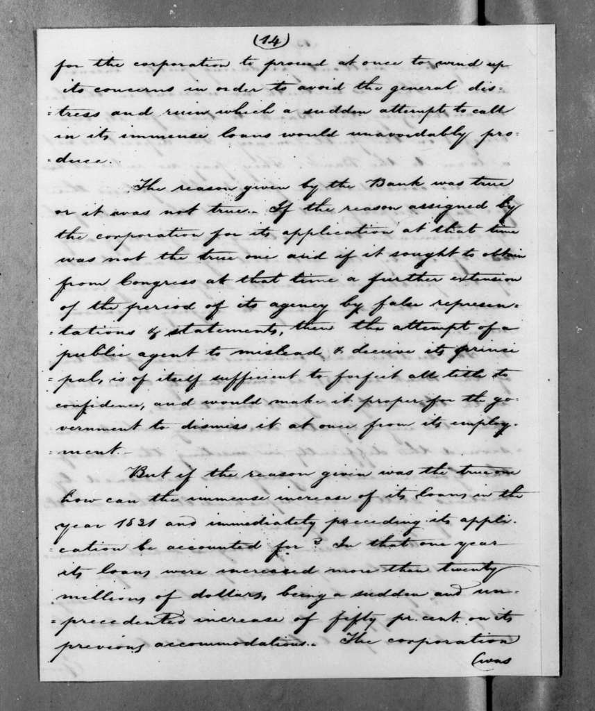 Levi Woodbury to Andrew Jackson, April 2, 1833