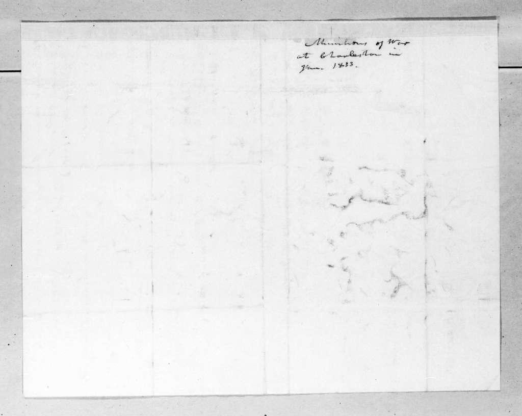 List of munitions at Charleston, South Carolina.