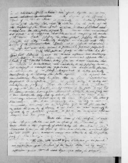 Martin Gordon to Francis Preston Blair, December 16, 1833