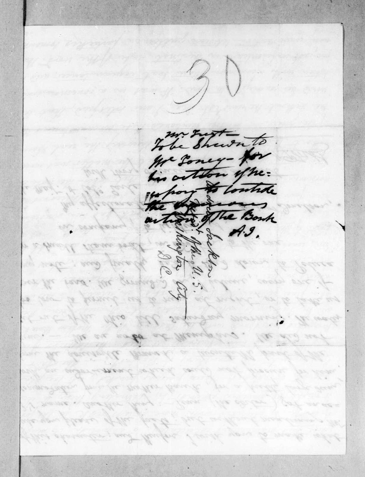 Nicholas Phillip Trist to Andrew Jackson, December 22, 1833