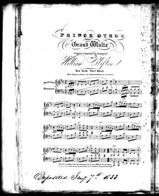 Prince Otho's grand waltz