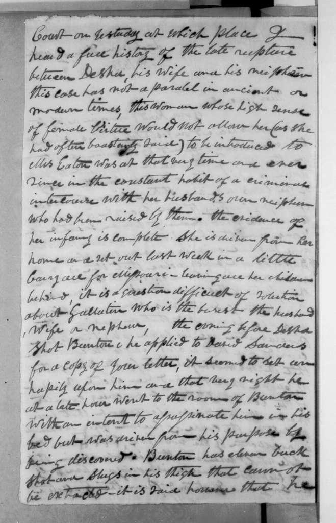 Robert Minns Burton to Andrew Jackson, February 16, 1833