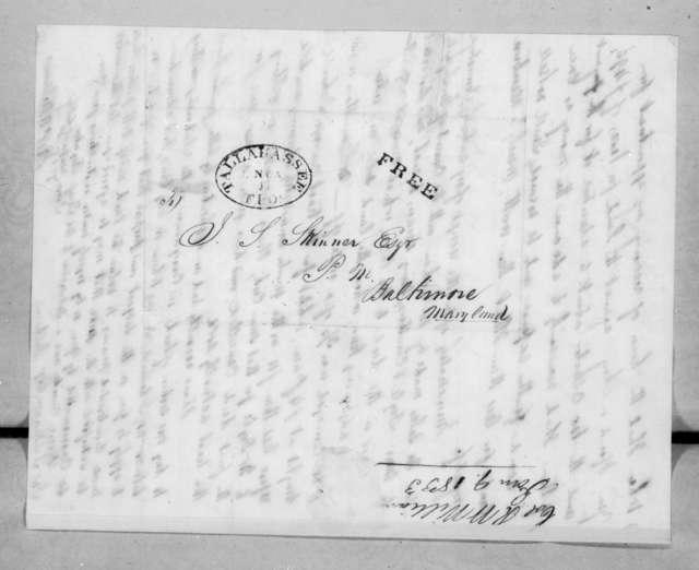 Robert W. Williams to John Stuart Skinner, January 9, 1833