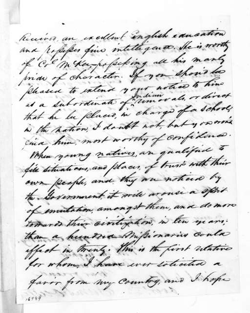 Samuel Houston to Andrew Jackson, July 30, 1833