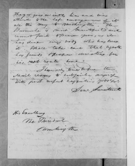 Samuel Swartwout to Andrew Jackson, December 3, 1833