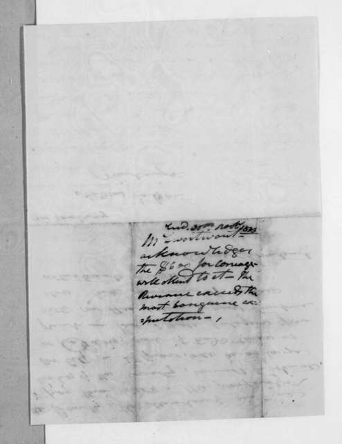 Samuel Swartwout to Andrew Jackson, November 28, 1833
