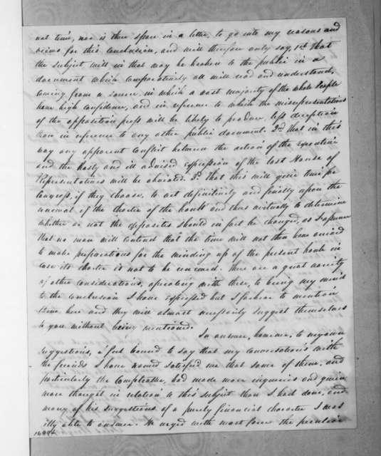 Silas Wright to Martin Van Buren, August 28, 1833